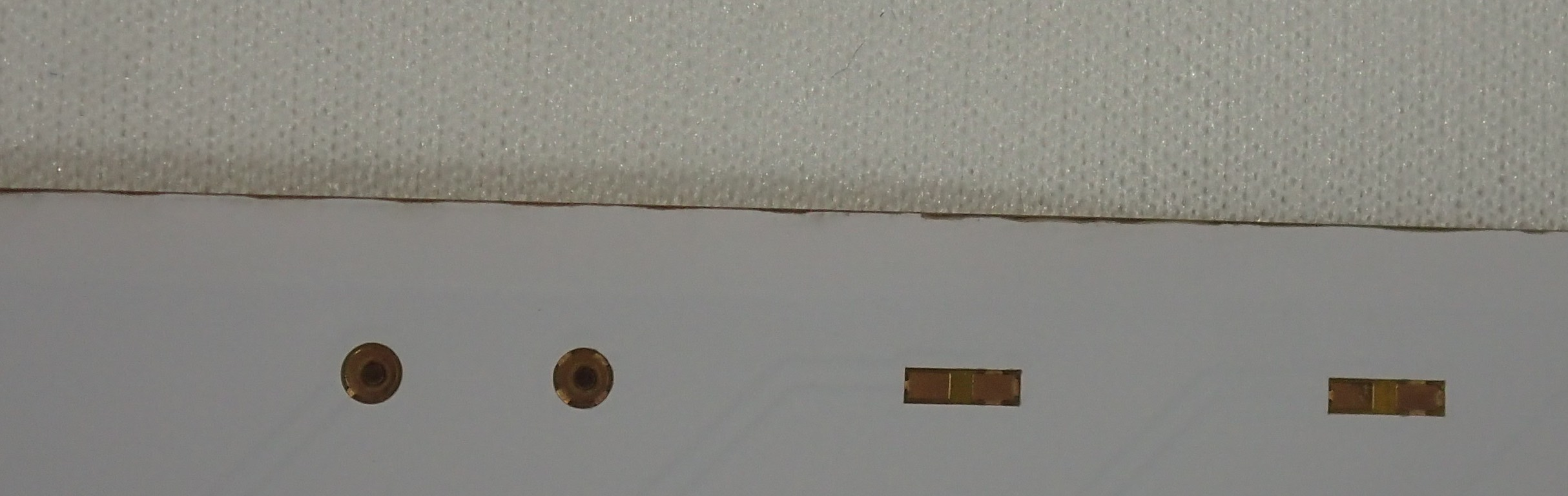 Picture showing the dirty edge of a pcb